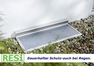 Regenschutz für Kellerschacht